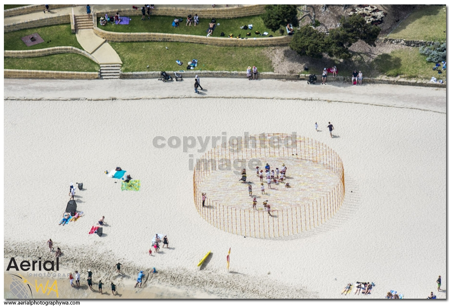 Sculptures by the sea.aerialphotographywa1