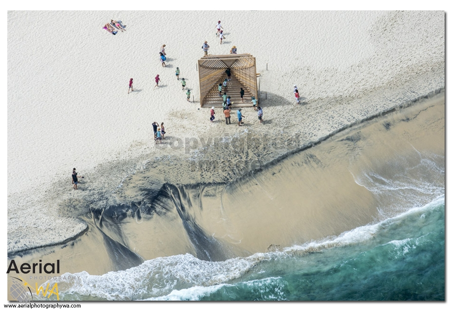 Sculptures by the sea.aerialphotographywa2