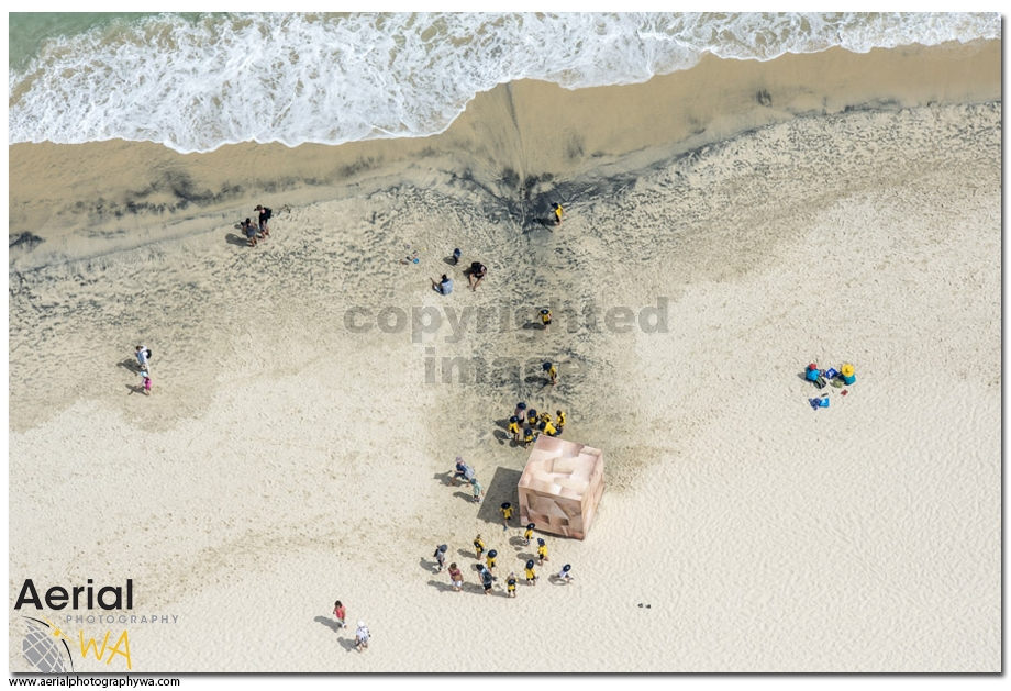 Sculptures by the sea.aerialphotographywa3
