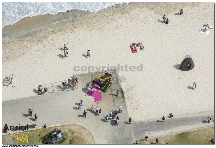 Sculptures by the sea.aerialphotographywa4