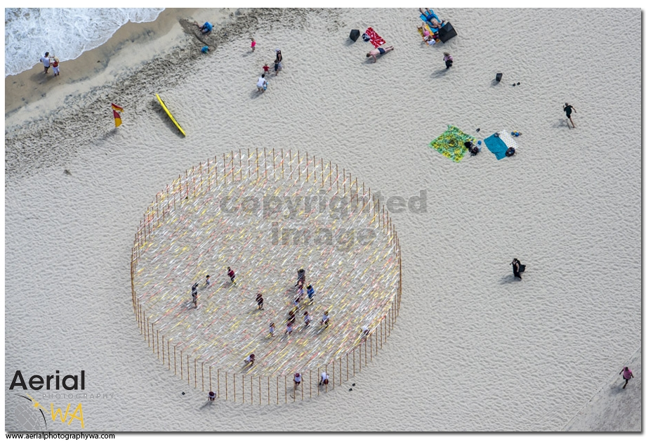 Sculptures by the sea.aerialphotographywa5