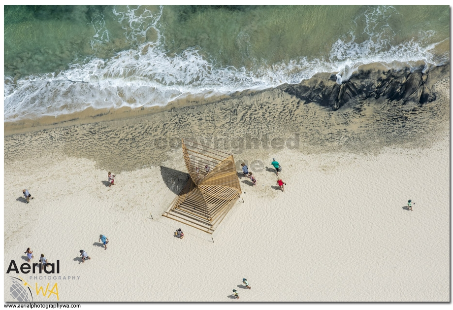 Sculptures by the sea.aerialphotographywa7